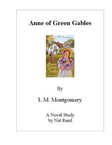 Anne of Green Gables Novel Study Study Guide