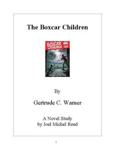 The Boxcar Children Novel Study Study Guide