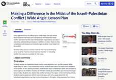 Making a Difference in the Midst of the Israeli-Palestinian Conflict Lesson Plan