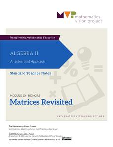 Module 10: Matrices Revisited Unit
