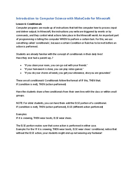 Conditionals Lesson Plan