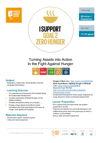 Turning Assets into Action in the Fight Against Hunger Unit