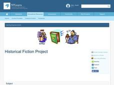 Historical Fiction Project Lesson Plan
