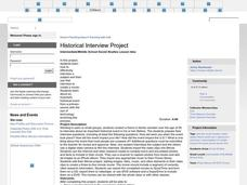 Historical Interview Project Lesson Plan