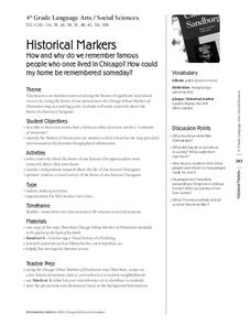 Historical Markers Lesson Plan