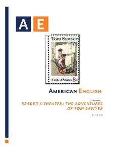 Reader's Theater: The Adventures of Tom Sawyer Activities & Project
