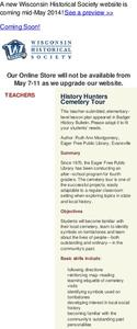 History Hunters Cemetery Tour Lesson Plan