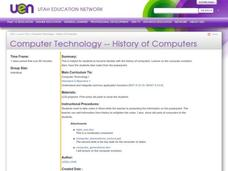 History Of Computers Lesson Plan