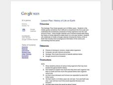 History of Life on Earth Lesson Plan