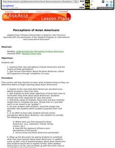 Perceptions of Asian Americans Lesson Plan