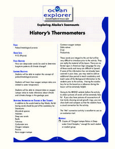 History's Thermometers Lesson Plan