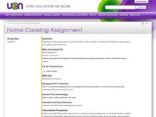 Home Cooking Assignment Lesson Plan