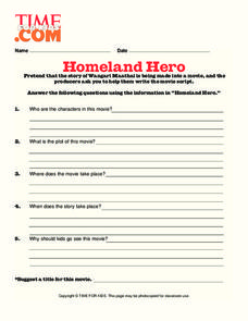 Homeland Hero Lesson Plan