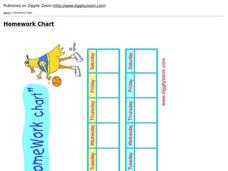 Homework Chart Worksheet