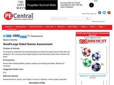 Small/Large Sided Games Assessment Lesson Plan