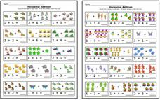 Horizontal Addition Worksheet