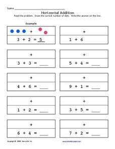 Horizontal Addition 3 Worksheet
