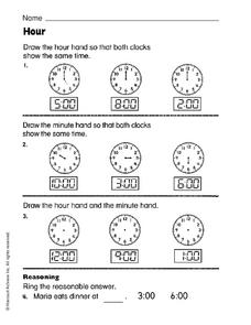 Hour Worksheet
