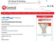 Team Shot: Basketball Shooting Lesson Plan