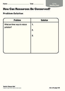 How Can Resources Be Conserved? Worksheet
