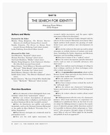 The Search for Identity Unit