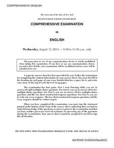 Comprehensive English Examination: August 2014 Assessment