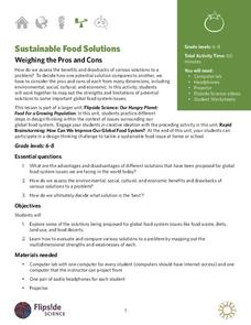 Sustainable Food Solutions: Weighing the Pros and Cons Lesson Plan