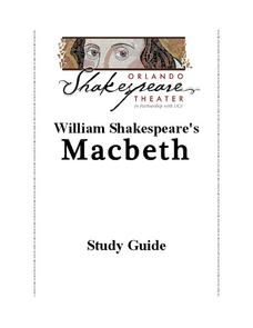 Macbeth: Study Guide Activities & Project