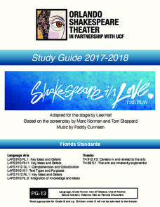 Shakespeare in Love: Study Guide Activities & Project