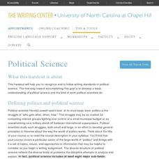 Political Science Website