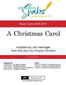 A Christmas Carol: Study Guide Activities & Project