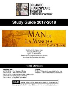 Man of La Mancha: Study Guide Activities & Project