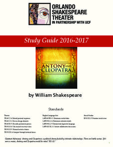 Antony and Cleopatra: Study Guide Activities & Project