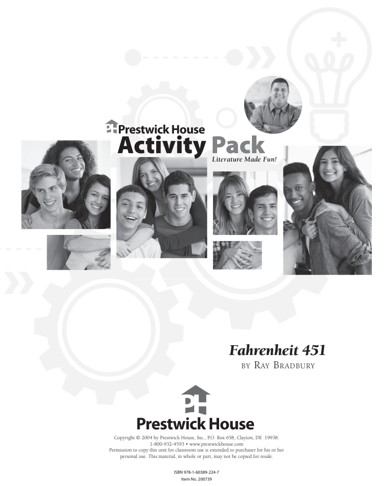 Fahrenheit 451—Activity Pack Activities & Project for 6th