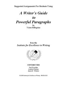 A Writer's Guide to Powerful Paragraphs Writing Prompt