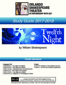Twelfth Night: Study Guide Activities & Project