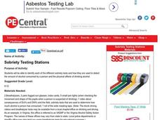 Sobriety Testing Stations Lesson Plan