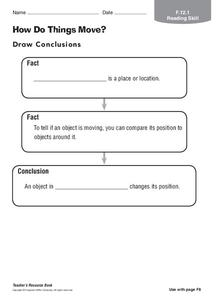 How Do Things Move? Worksheet