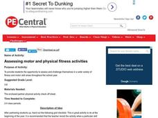Assessing Motor And Physical Fitness Activities Lesson Plan