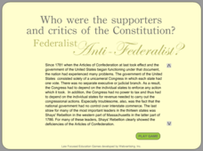 Federalist — Anti-Federalist Learning Game