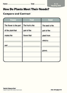 How Do Plants Meet Their Needs? Worksheet