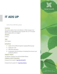 It Ads Up Lesson Plan