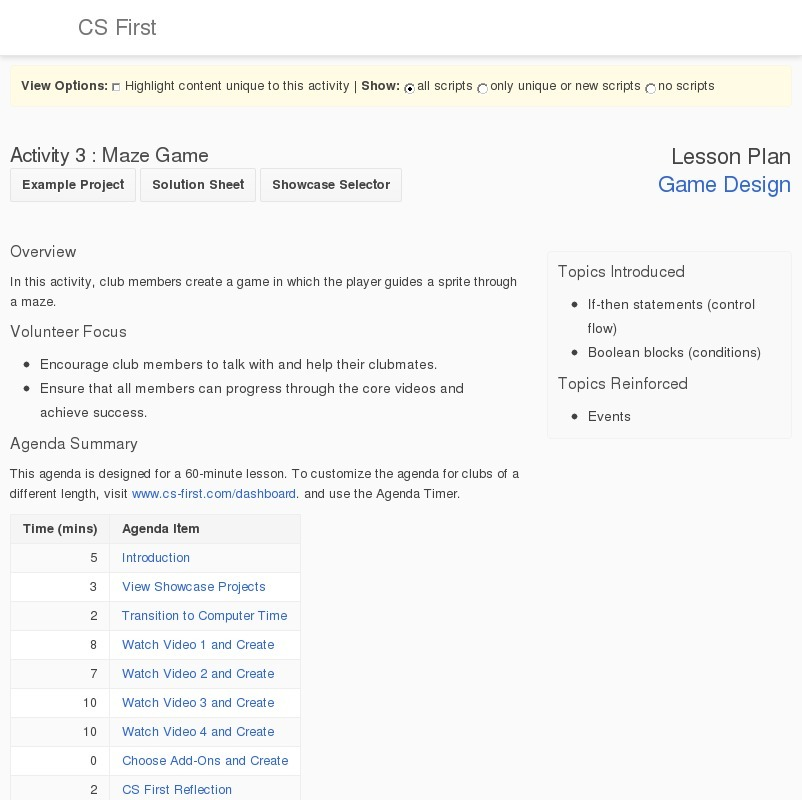 Game design maze game lesson plan for 5th 9th grade - Game design lesson plans for teachers ...