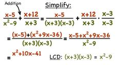 How Do You Add Two Rational Expressions with Different Denominators? Video