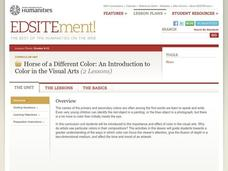 Horse of a Different Color: An Introduction to Color in the Visual Arts Lesson Plan