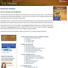 American History: From Pre-Columbian to the New Millennium Website