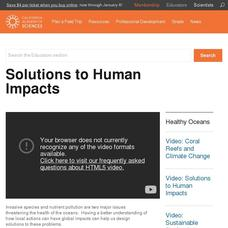 Solutions to Human Impacts Video