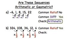 How Do You Determine if a Sequence is Arithmetic or Geometric? Video