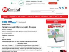 Noncommunicable/Communicable Diseases Lesson Plan