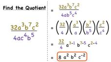 How Do You Divide Monomials Using Quotient of Powers? Video